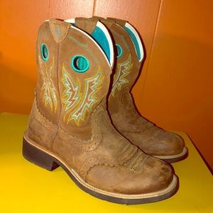 Ariat Fatbaby Brown Leather Cowboy Boots